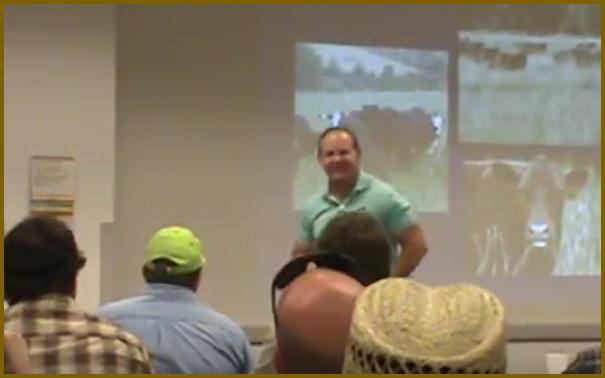 Allen Williams speaking in Sauk County, WI in summer 2017