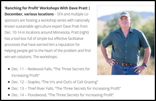 Ranching for Profit workshops with Dave Pratt