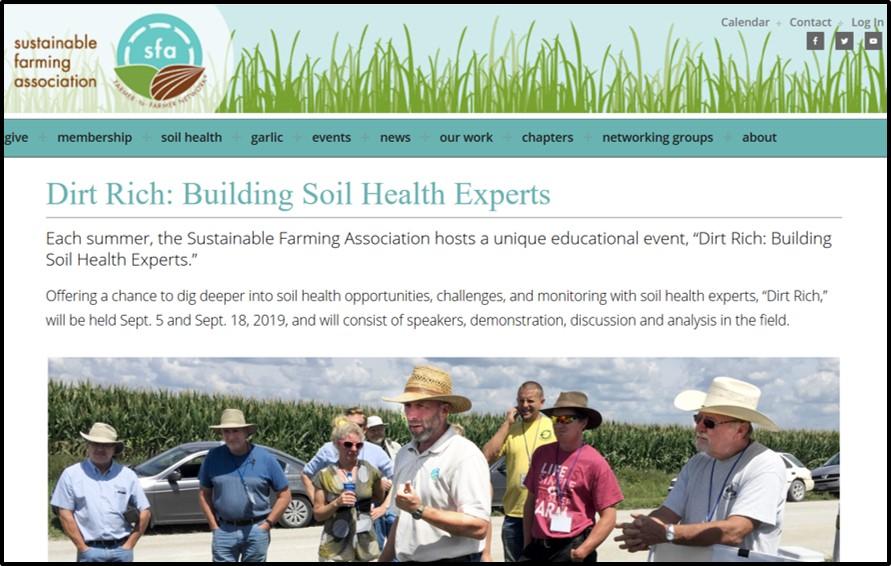 Sustainable Farming Association Dirt Rich