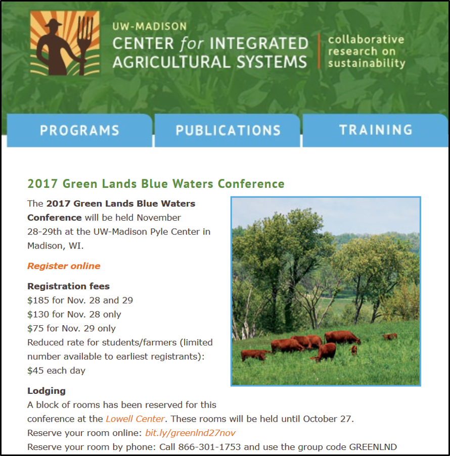 2017 GLBW conference web page screenshot