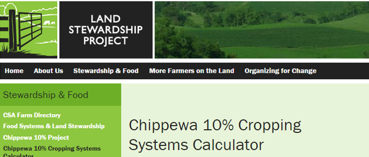 Land Stewardship Project Cropping System Calculator image
