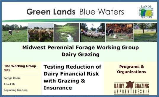 Midwest Perennial Forage Working Group dairy page