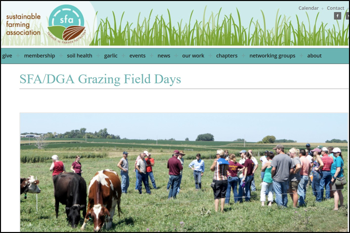 SFA and DGA field days