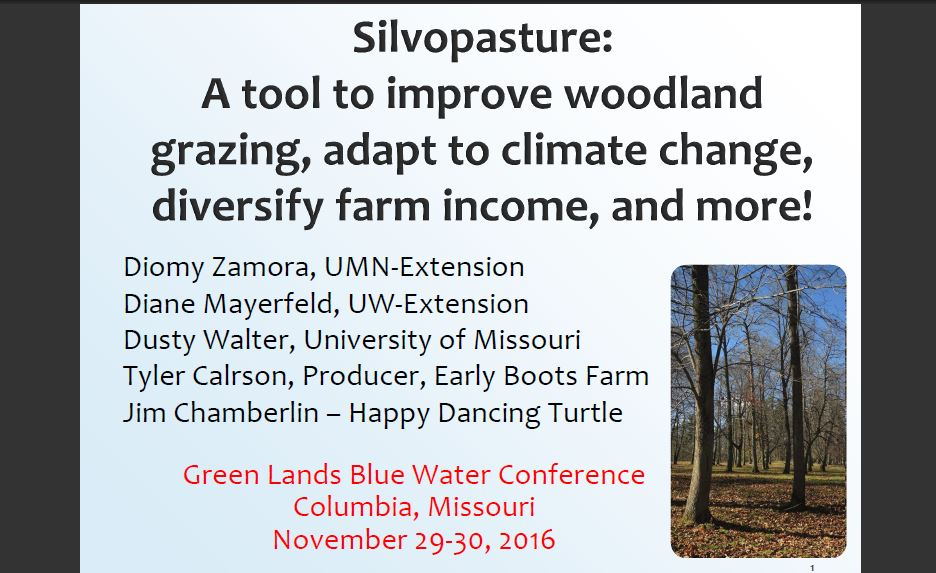 Silvopasture presentation from 2016 GLBW conference