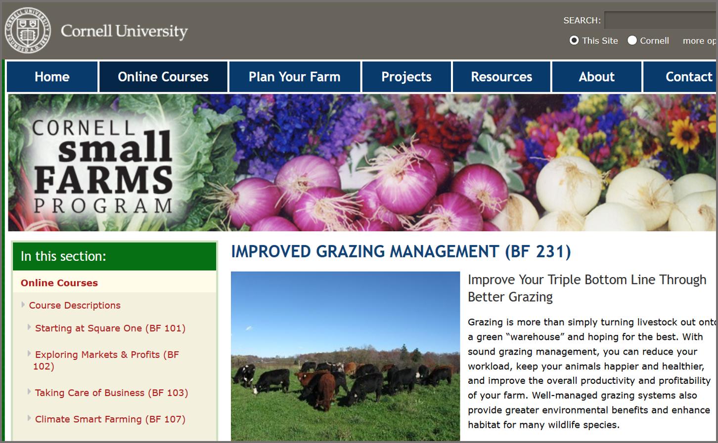 Cornell grazing management course