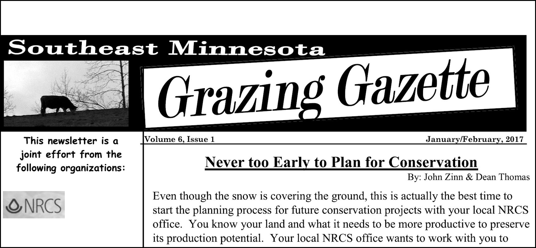 southeast MN Grazing Gazette front page
