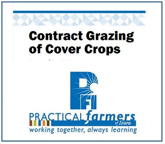Contract grazing of cover crops factsheet