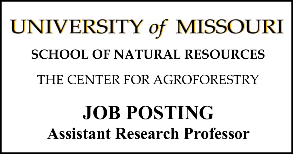 assistant professor job announcement for Center for Agroforestry