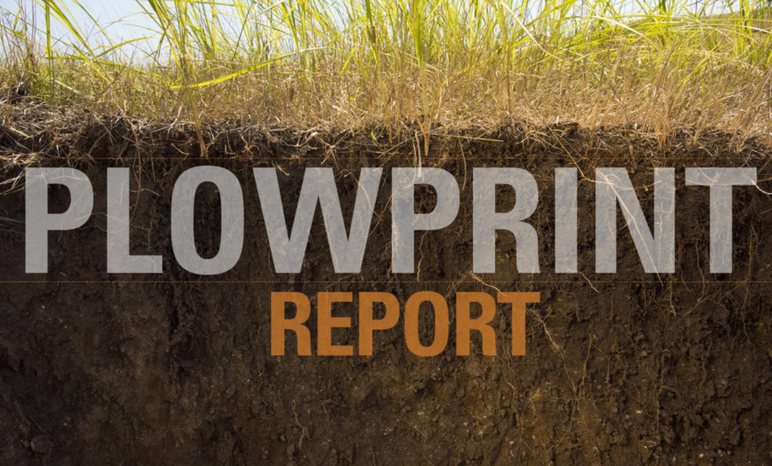 cover page of Plowprint Report from World Wildlife Fund